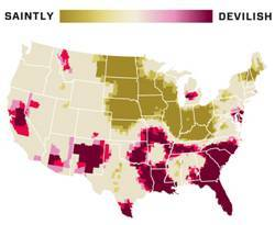 Mapping Sin in the U.S.